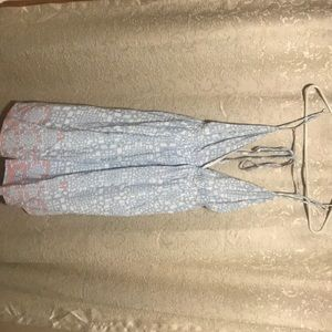 Dresses & Skirts - Blue Flowy Dress with Back Tie